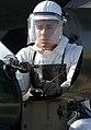 AIRMAN First Class (A1C) Lewis Noriega, USAF, 437th Aircraft Generation Squadron (AGS), Charleston AFB, South Carolina, services the liquid oxygen (LOX) system on a C-17A Globemaste - DPLA - d477696d341def941dcd828773f9987d.jpeg
