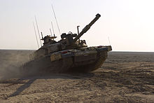 a244b96f5acf A Royal Scots Dragoon Guards Challenger II climbing an obstacle during a  training exercise 17 Nov 2008