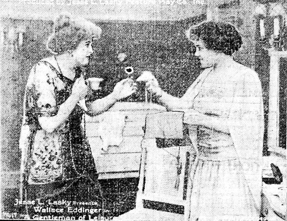 A Gentleman of Leisure 1915 scene B - newspaper