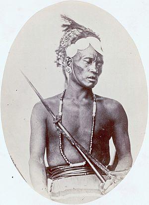 Rengma Naga - A Rengma Naga man, c. 1868