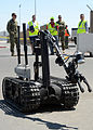 A U.S. Navy robot assists in handling explosive ordnance during a training exercise March 26, 2013, at Naval Support Activity Bahrain in Bahrain 130326-N-RE144-129.jpg