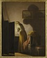 A Woman Picking Fleas by Candlelight (Pehr Hilleström d.ä.) - Nationalmuseum - 23805.tif