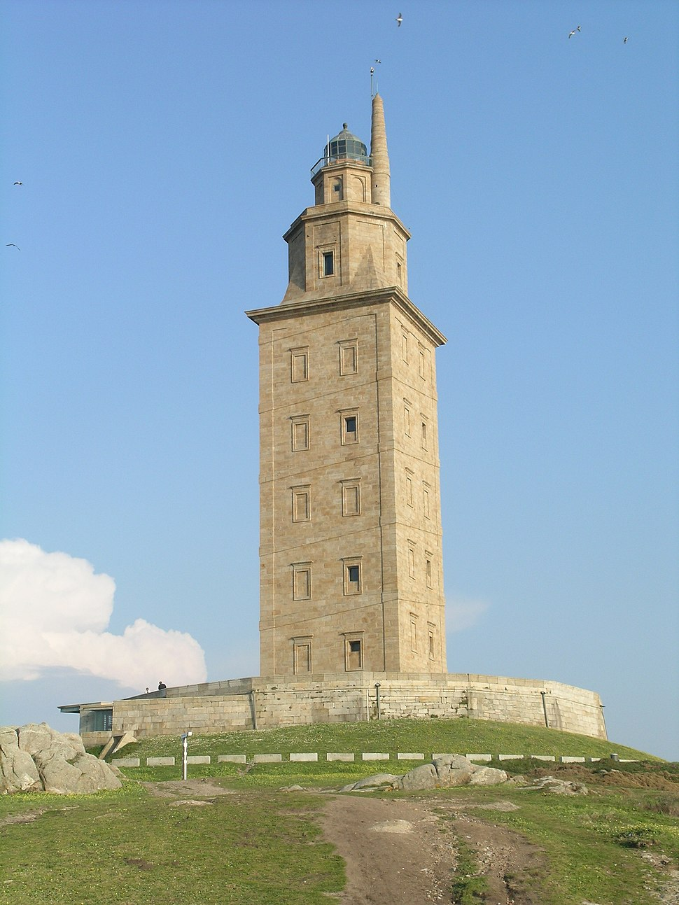 A coruna torre de hercules sunset