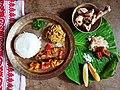 A lunch platter of Assamese cuisine.jpg