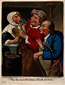 A rustic blacksmith turned tooth-drawer extracting a tooth f Wellcome V0012027.jpg