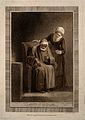 A very old man, suffering from senility. Colour stipple engr Wellcome V0007474.jpg