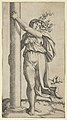 A young woman personifying Force or Strength holding a column MET DP854372.jpg