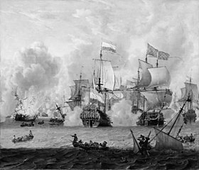 Encounter between the English and the Dutch Fleets at La Hogue 29th May 1692