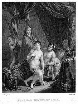 Abraham recevant Agar