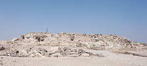 Abu Rawash - The ruined Pyramid of Djedefre sits atop the plateau of Abu Rawash