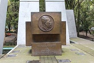 Lázaro Cárdenas - Monument to Cárdenas in Parque España, Mexico City