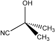 Struktur von Acetoncyanhydrin