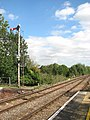 Acle railway station - signal on the Gt Yarmouth line - geograph.org.uk - 1477370.jpg