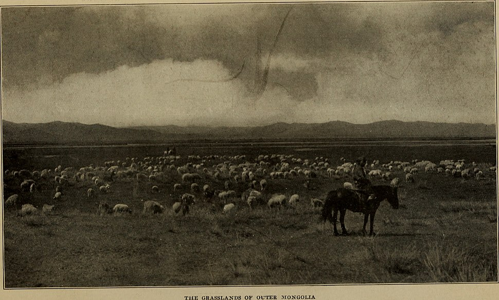 """Across Mongolian plains; a naturalist's account of China's """"great northwest"""", by Roy Chapman Andrews photographs by Yvette Borup Andrews (1921) (16150719773)"""