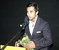 Actor Rahul Khanna addressing at the presentation of the film (Wake Up Sid), in the INOX Cinema Hall, during the IFFI-2010, in Panjim, Goa on November 27, 2010.jpg