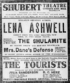 Ad for The Shulamite with Lena Ashwell from the Brooklyn Daily Eagle 2 December 1906.png