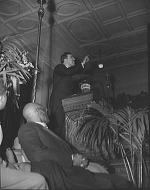 Adam Clayton Powell Jr. - Powell addressing a citizens' committee mass meeting