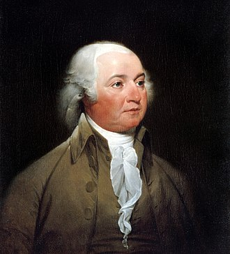 Continental Navy - John Adams took an active role in the formation of the navy and the drafting of suitable operational regulations.  Painting by John Trumbull, c. 1792–93.