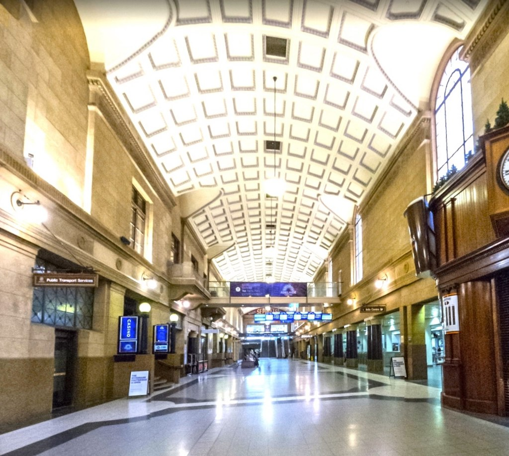 Adelaide railway station concourse