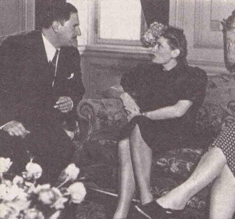 Adhemar de Barros e Edda Ciano Mussolini - 1939