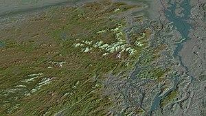 Adirondack Park, oblique view, computer image ...