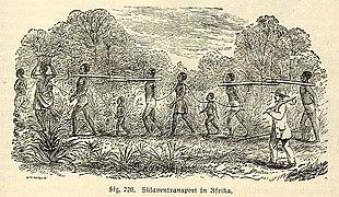 Trasporto di schiavi in Africa