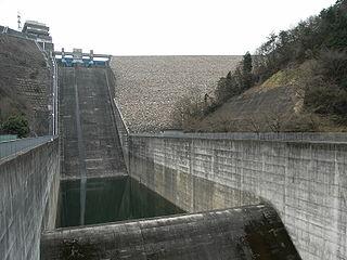 Agigawa Dam Dam in Higashino-Yamamoto section, Ena City, Gifu Prefecture, Japan