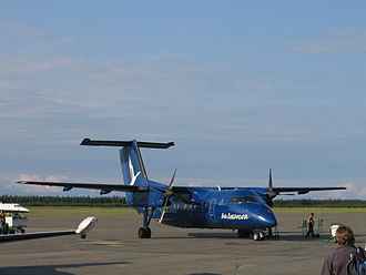 Air Labrador - Air Labrador Dash 8 at Sept-Îles Airport (aircraft now retired from the fleet)