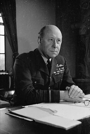 William Welsh (RAF officer) - Air Marshal Welsh, Air Officer Commanding-in-Chief, Flying Training Command, at his desk at the Air Ministry, London.