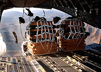 CDS bundles being dropped out of a C-17
