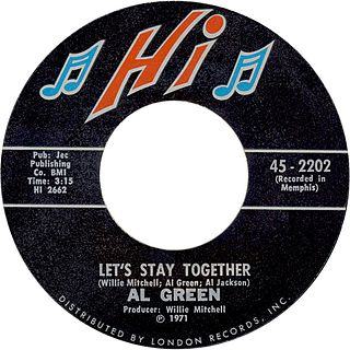 Lets Stay Together (Al Green song) single