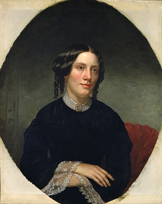 Harriet Beecher Stowe - Portrait of Stowe by Alanson Fisher, 1853 (National Portrait Gallery)