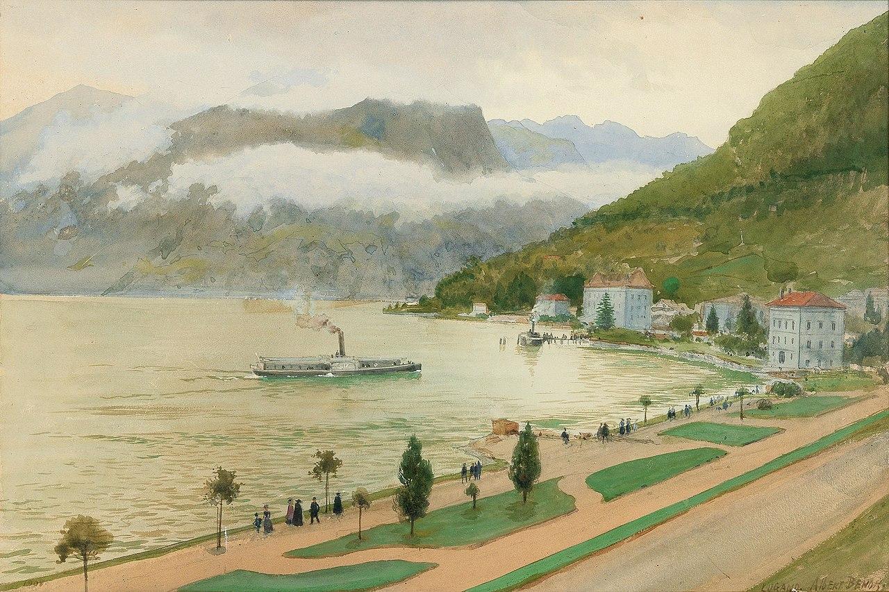 Альберт Бенуа - Der Luganer See.jpg