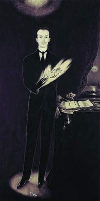 Alberto Martini - Self-portrait, 1911, mixed media
