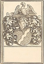 Albrecht Dürer, Coat of Arms of Michael Behaim, probably c. 1520, NGA 6726.jpg