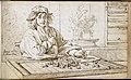 Album amicorum Jacob Heyblocq KB131H26 - p249 - Jan de Bray - Drawing - Chess player.jpg