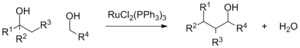 Dichlorotris(triphenylphosphine)ruthenium(II) - Image: Alcohol Cross Coupling Ru Cl 2PPH3