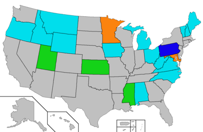 Alcoholic Beverage Control State Wikipedia - Map of all the states in the us