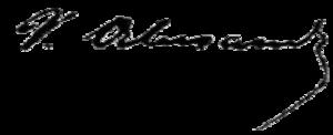 Vasile Alecsandri - Image: Alecsandri signature
