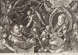 Alegorický dvojportrét Bartholomea Sprangera a jeho zesnulé choti Christiny