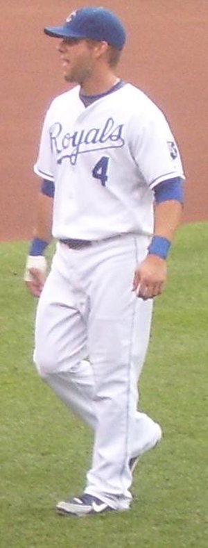 Alex Gordon - Gordon before a game against the St. Louis Cardinals during the 2008 season