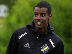 Alexander Isak (training 2016, cropped 1).jpg