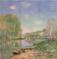 AlfredSisley-1891-Banks of the Loing River, Morning.png