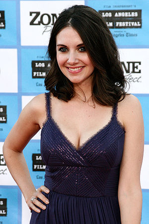 English: Alison Brie at the red carpet film pr...