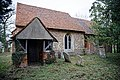 All Saints Church, Berners Roding, Essex porch and nave from south.jpg