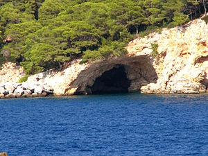 National parks of Greece - Image: Alonisos cave 0a