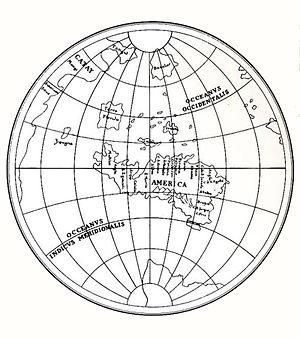Leonardo's world map -  Modern recreation of Leonardo da Vinci's world map