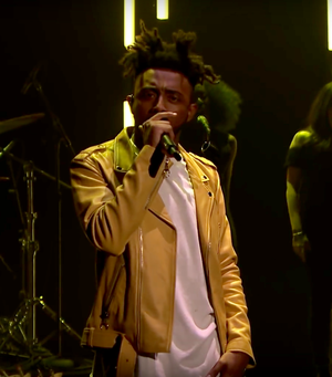 Aminé (rapper) - Aminé performing on The Tonight Show Starring Jimmy Fallon in 2017