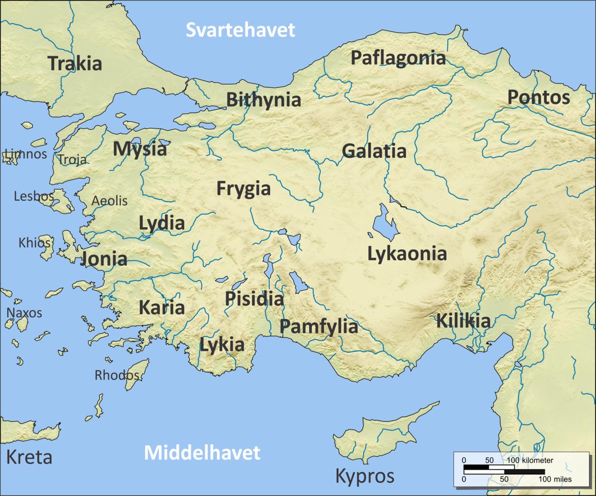 kart over kreta vest Lykaonia – Wikipedia kart over kreta vest