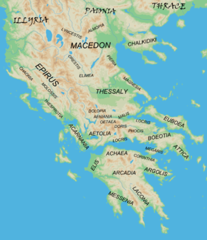 Regions of ancient greece wikipedia map showing the major regions of mainland ancient greece and adjacent barbarian lands gumiabroncs Images